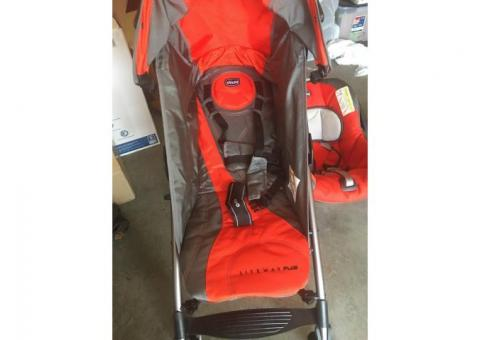 Chicco baby car seat with stroller