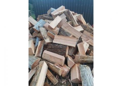 Dry fir firewood