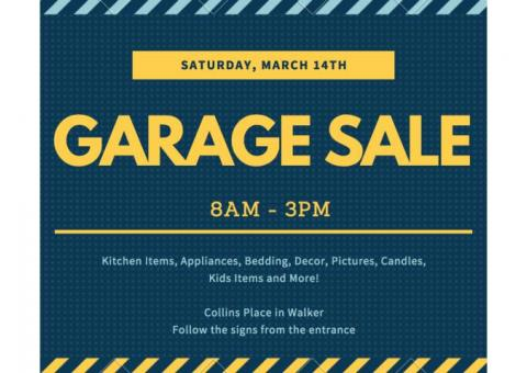 GARAGE SALE!!!  THIS SATURDAY!!!