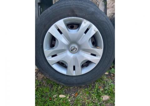 Rims tires and hubcaps