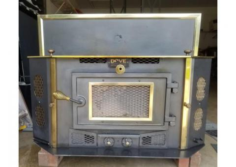 Wood burning stove insert